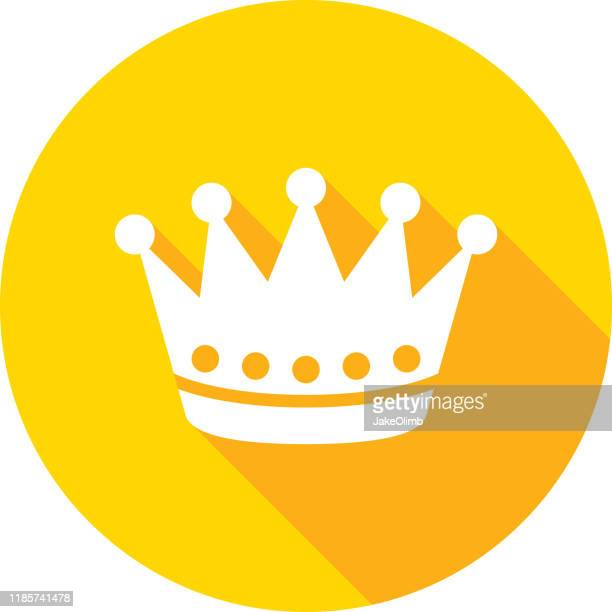crown icon silhouette - medieval queen crown stock illustrations