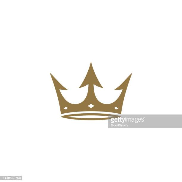 illustrazioni stock, clip art, cartoni animati e icone di tendenza di crown icon - corona reale