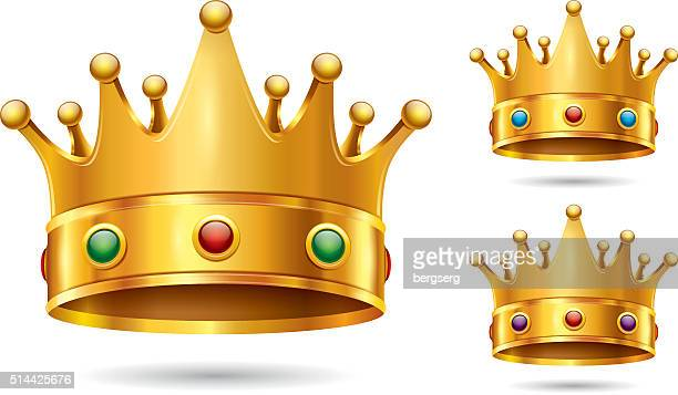 crown icon - medieval queen crown stock illustrations