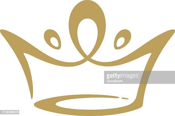crown icon - crown headwear stock illustrations