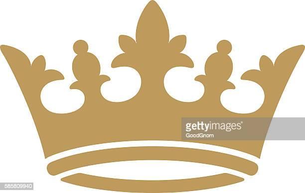 ilustrações, clipart, desenhos animados e ícones de crown ícone  - artigo de vestuário para cabeça