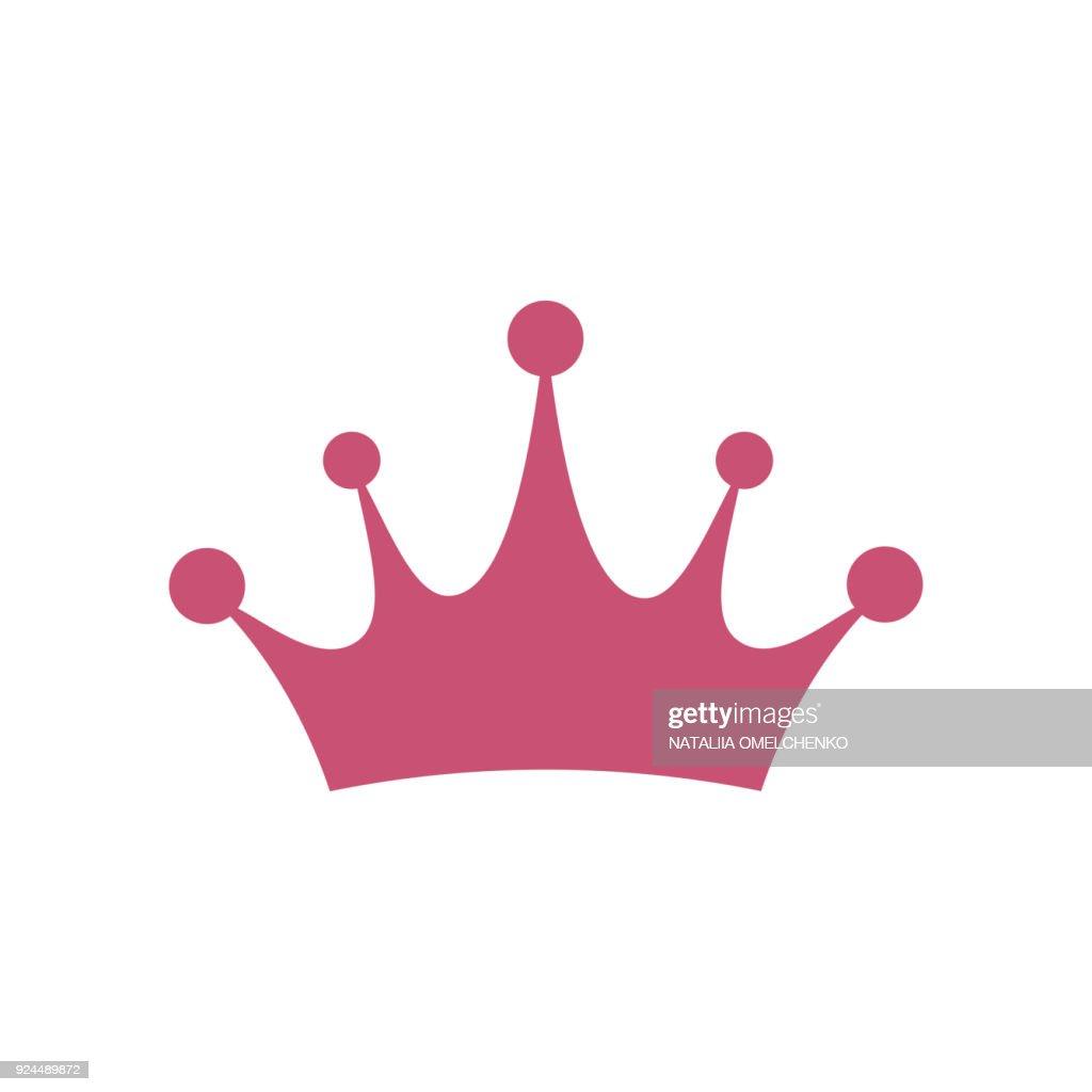 Crown icon vector. Princess Crown