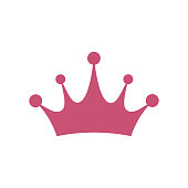 Crown icon vector. Princess Crown
