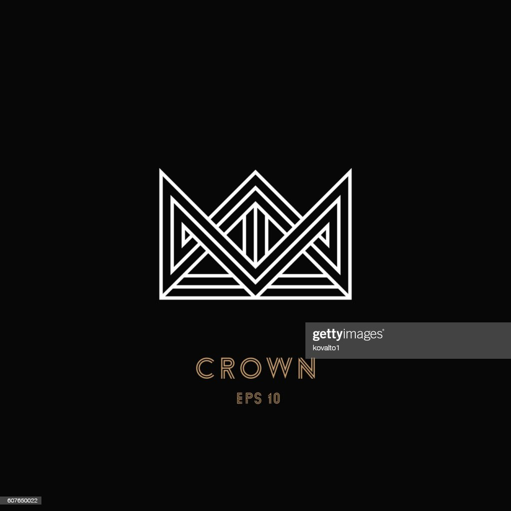 Crown logo, geometric monogram