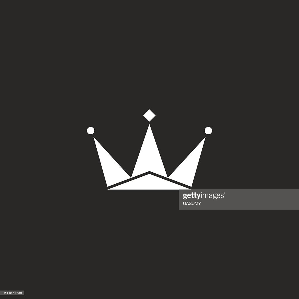 Crown Logo Royal Black And White Symbol King Sign Vector Art Getty