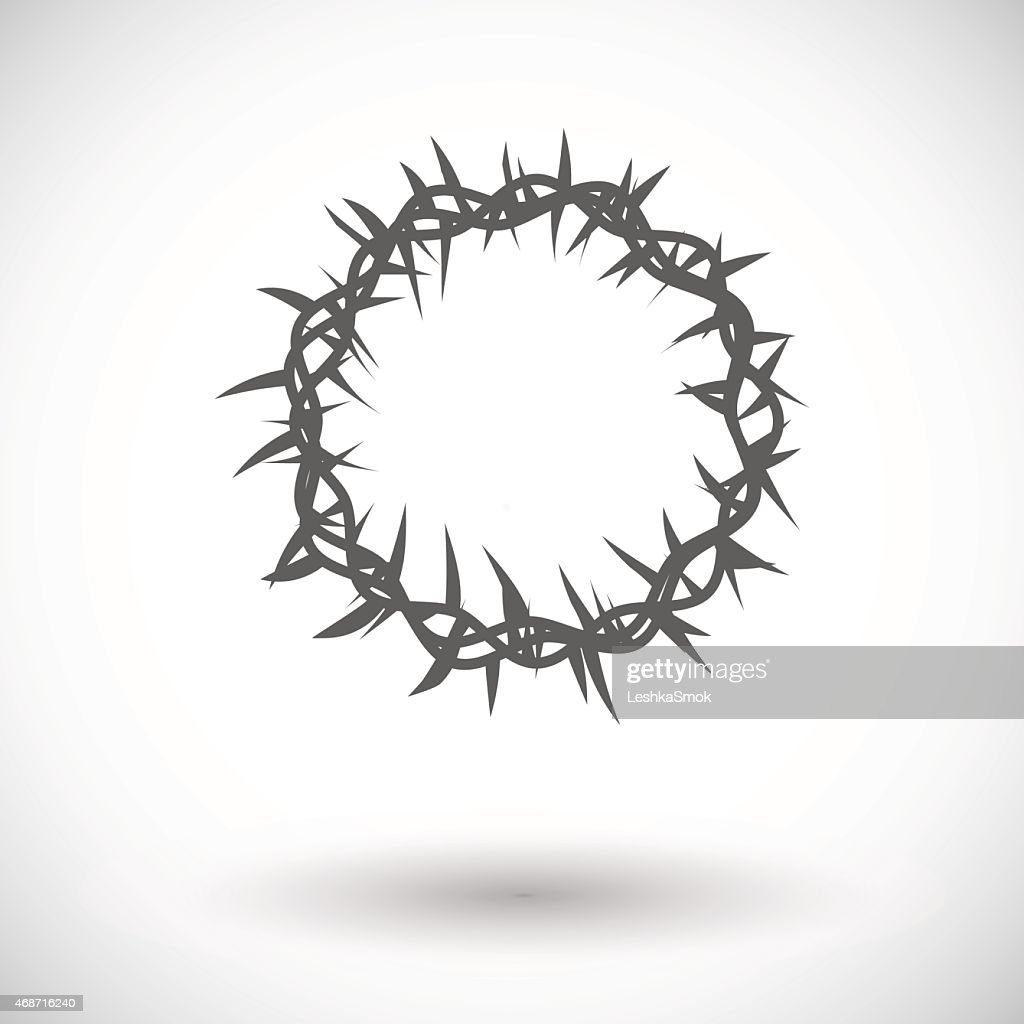 Crown of thorns single icon