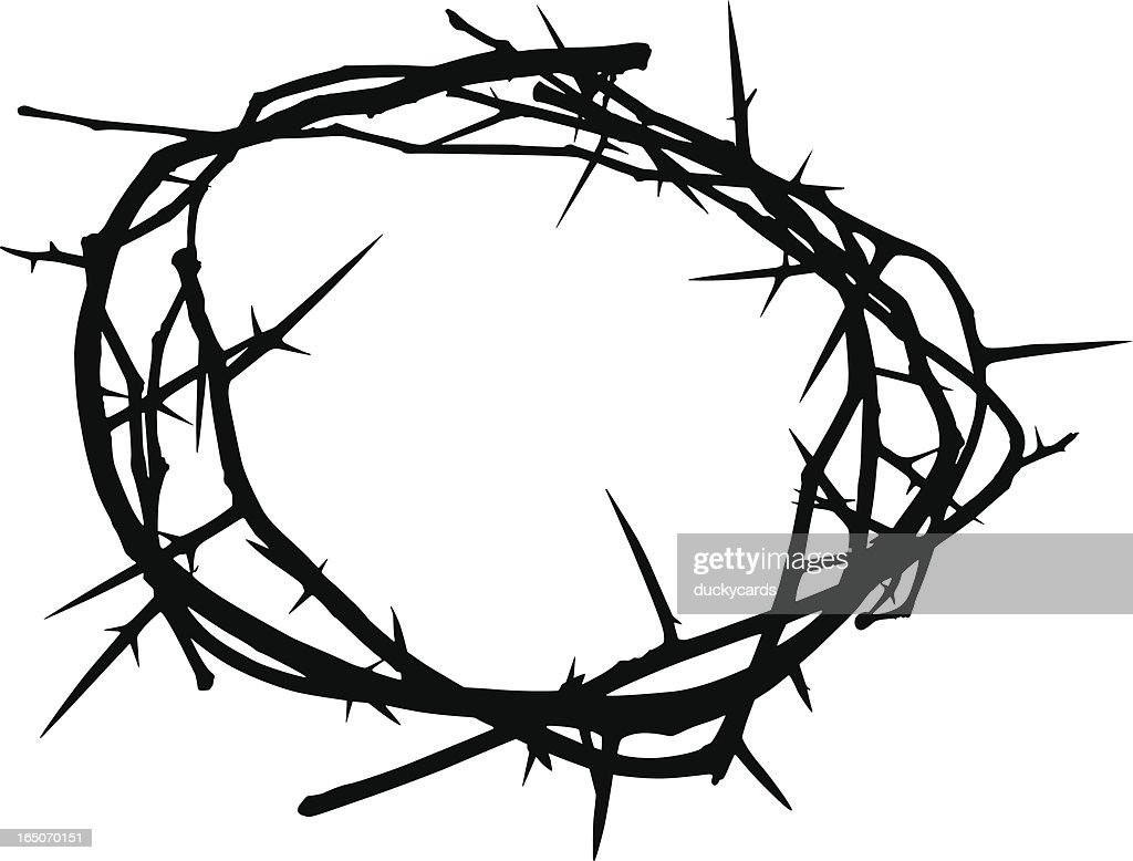 crown of thorns vector art getty images rh gettyimages com  crown of thorns vector image