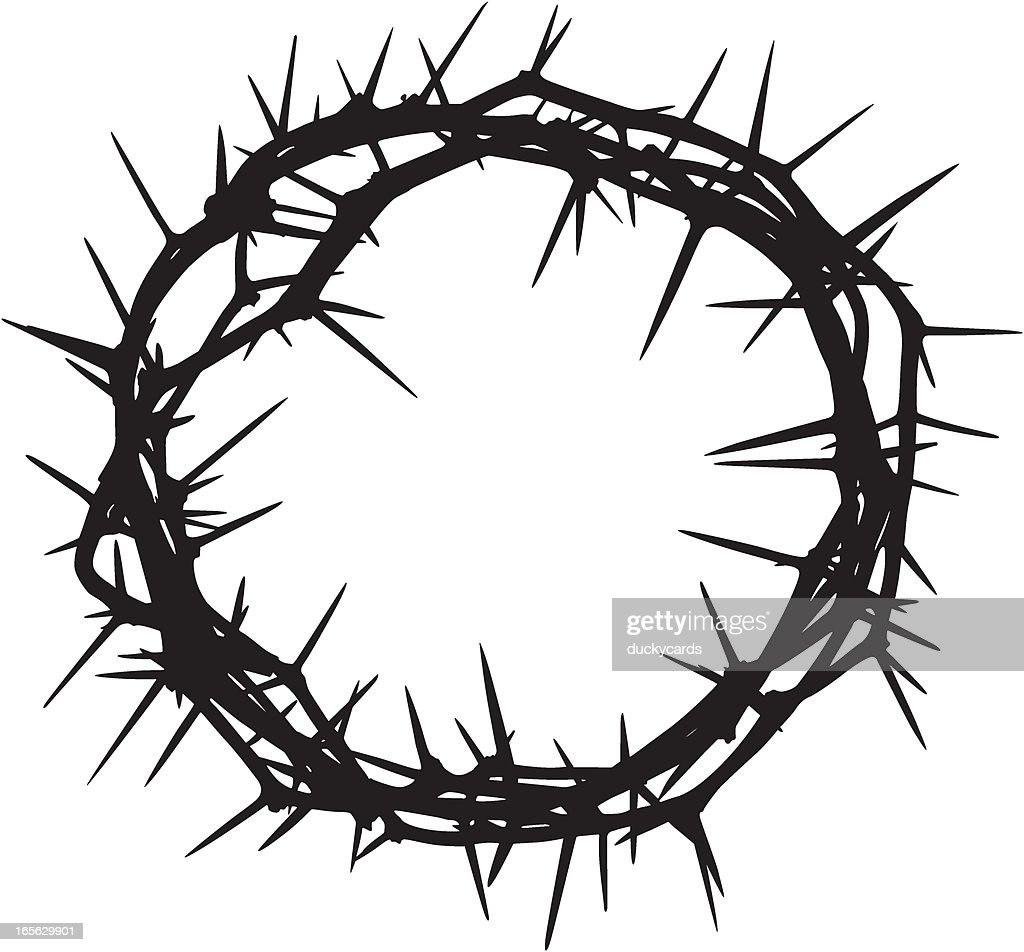 crown of thorns stock illustrations and cartoons getty images rh gettyimages com Crown of Thorns Drawing Crown of Thorns Outline
