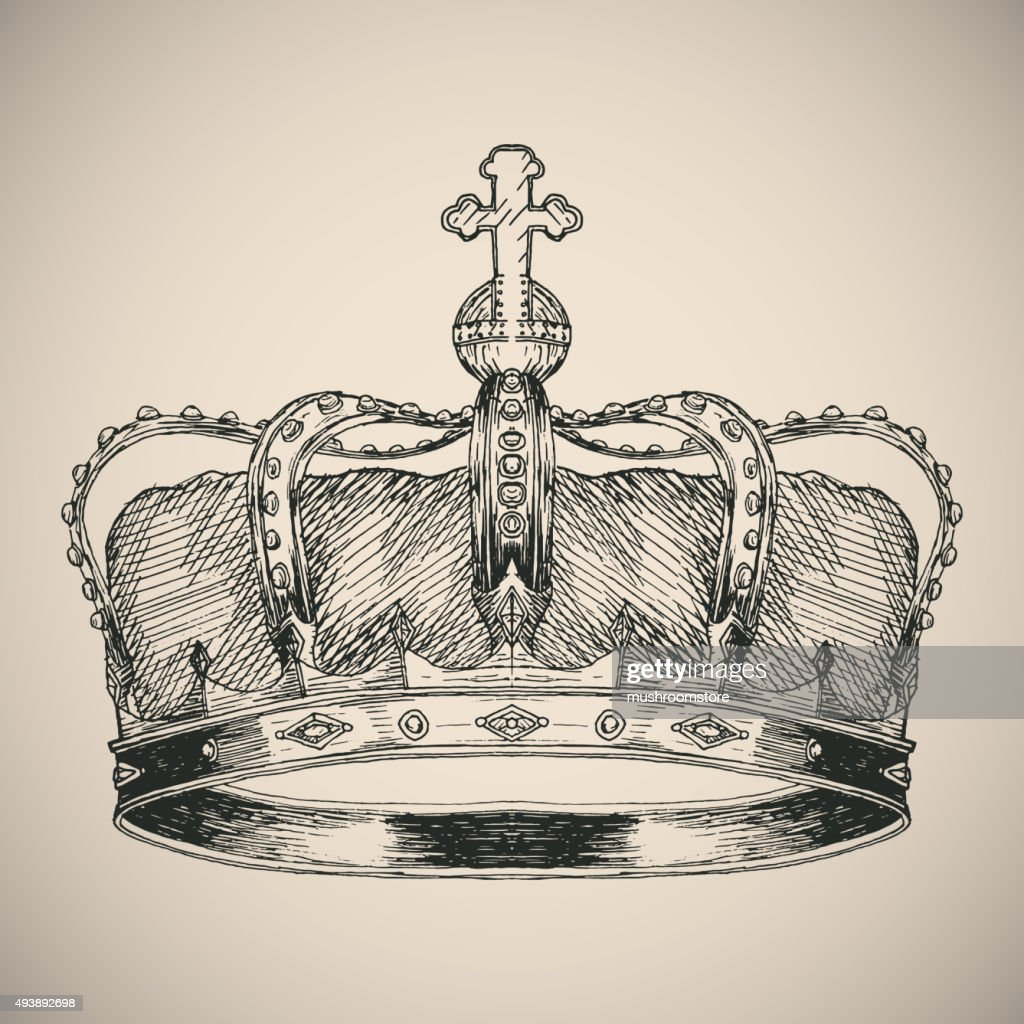 Crown symbol sketch.