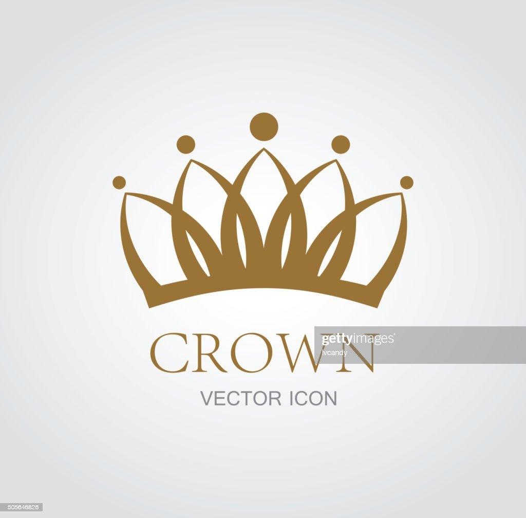 Crown symbol : stock illustration