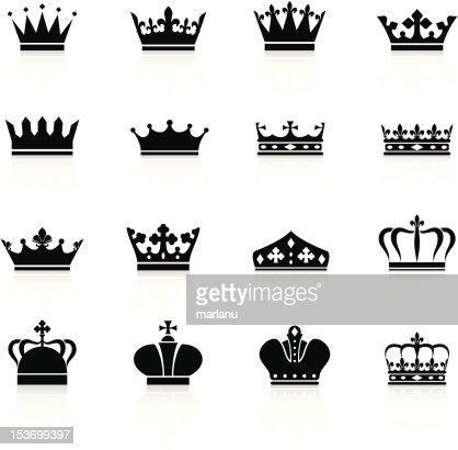 Crown Symbols Black Series Vector Art Getty Images