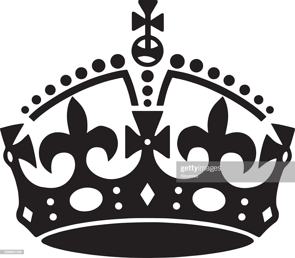 Crown tattoo vector. Men's tattoo. Women's tattoo.