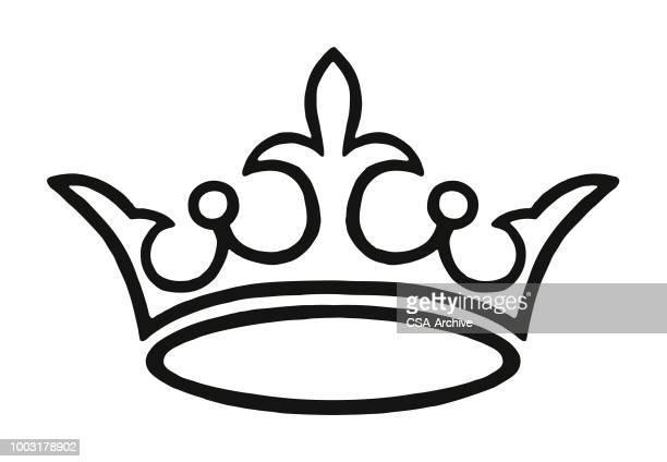 crown - emperor stock illustrations, clip art, cartoons, & icons