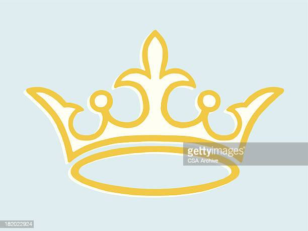 crown - tiara stock illustrations