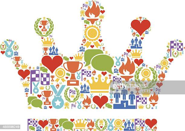 crown - thanks quotes stock illustrations