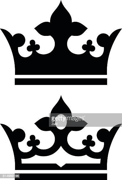 crown - embellishment stock illustrations