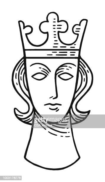 crowned head - royal person stock illustrations