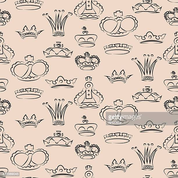 crowns pattern - en búsqueda stock illustrations