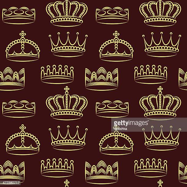 crowns wallpaper - king royal person stock illustrations, clip art, cartoons, & icons