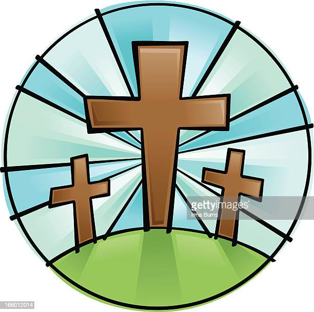 crucifix for good friday and easter - resurrection religion stock illustrations, clip art, cartoons, & icons