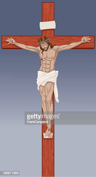 crucifix - jesus stock illustrations, clip art, cartoons, & icons