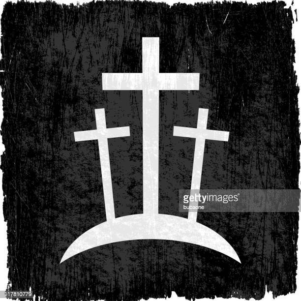 crucifixion on royalty free vector background - wood stain stock illustrations, clip art, cartoons, & icons