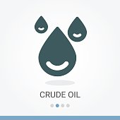 Crude Oil Vector Icon