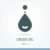 Crude Oil Vector Icon