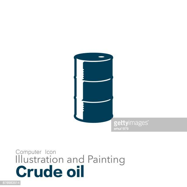 crude oil - oil drum stock illustrations, clip art, cartoons, & icons
