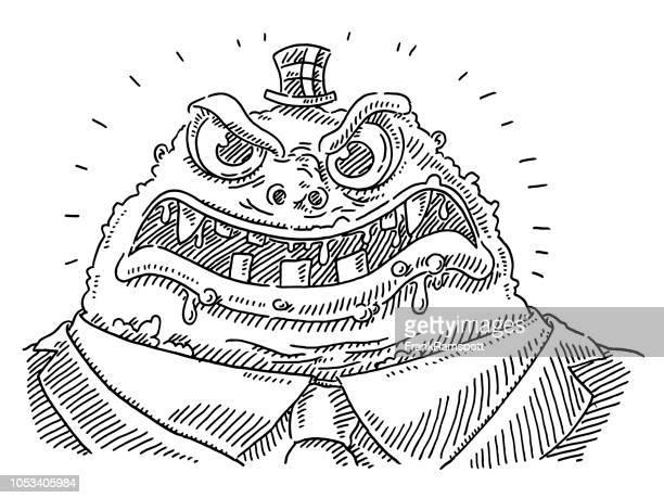 Cruel Boss Cartoon Monster Drawing