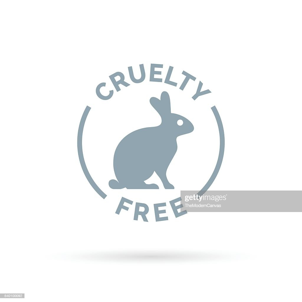 Cruelty free icon design with rabbit silhouette symbol