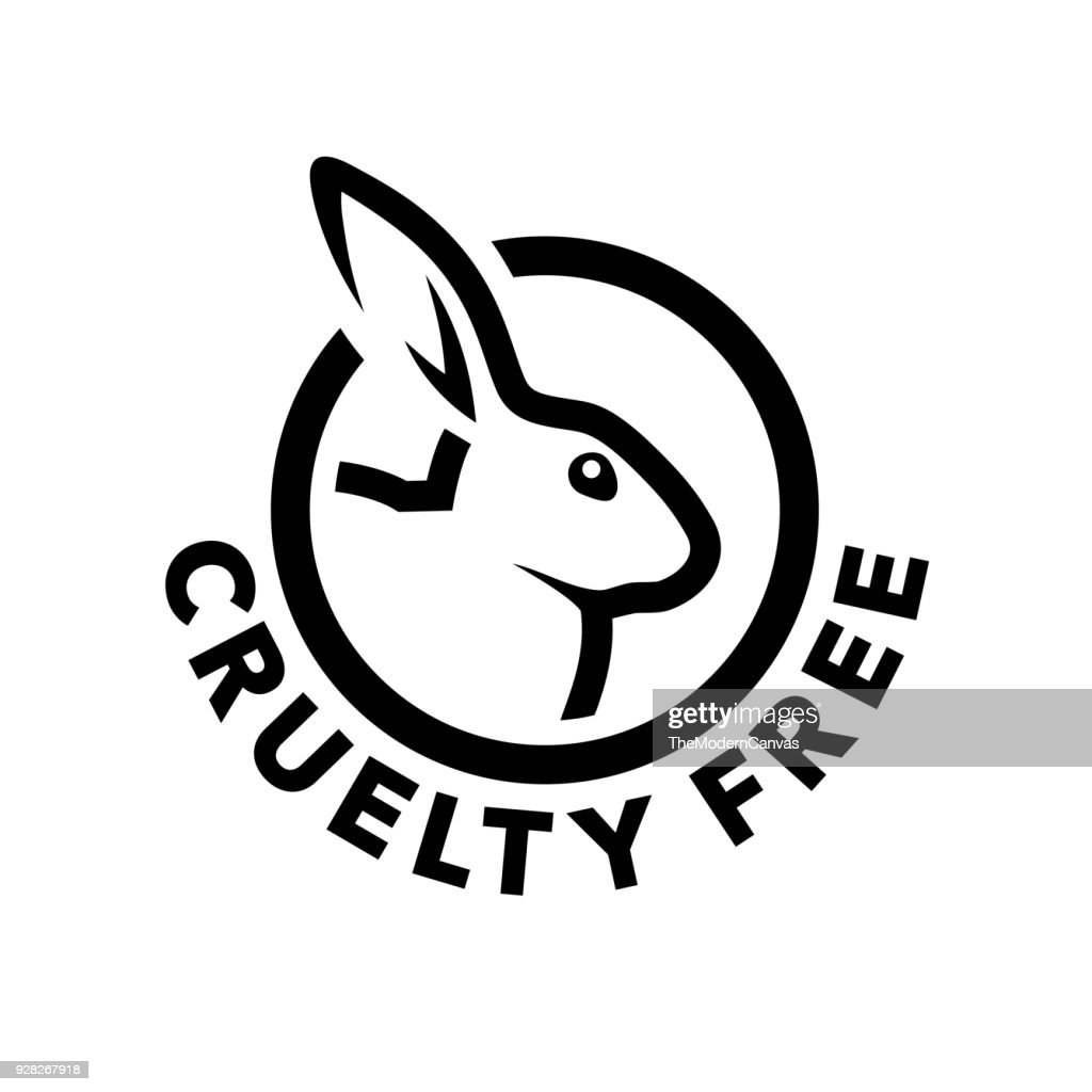 Cruelty free icon design with rabbit symbol