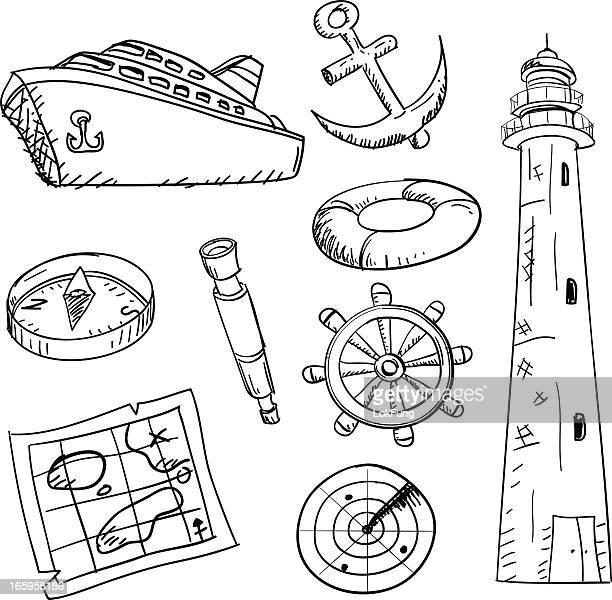 Cruise and equipment illustration