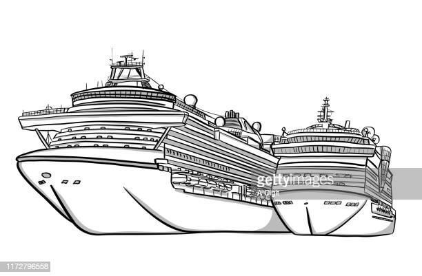 クルーズボート - 乗客輸送船点のイラスト素材/クリップアート素材/マンガ素材/アイコン素材