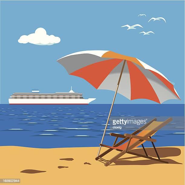 cruise liner near beach