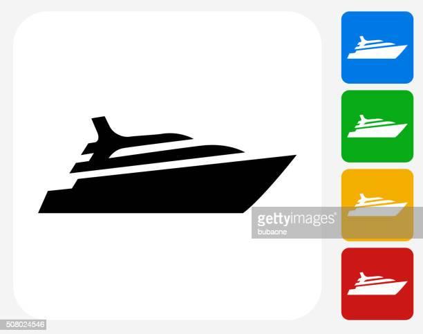 cruise ship icon flat graphic design - yacht stock illustrations