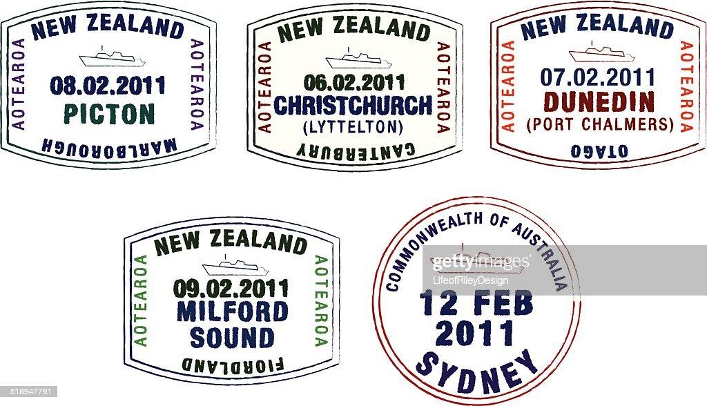Cruise ship passport stamps