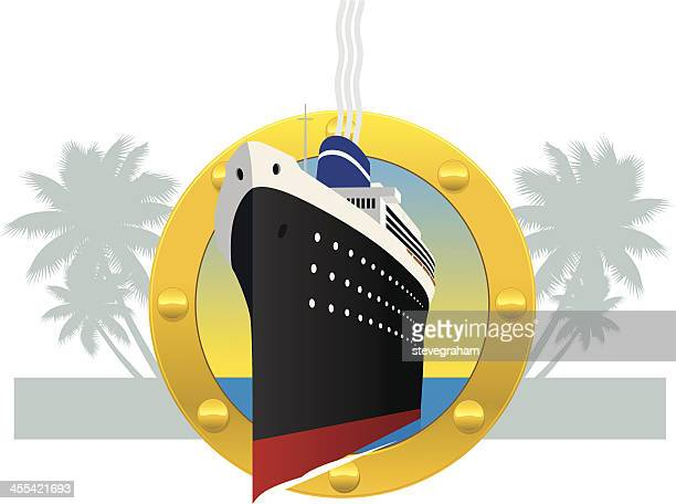 Cruise Ship Through a Porthole