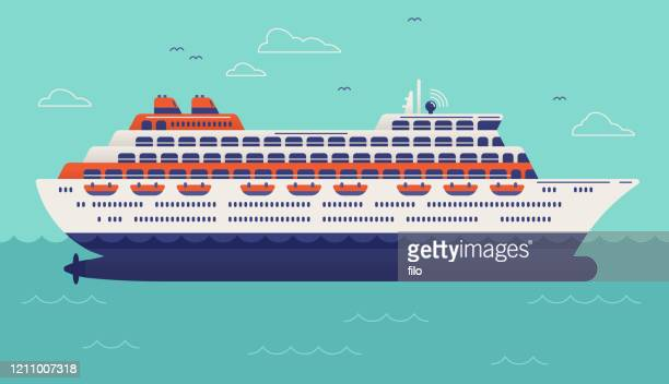 クルーズ船 - 遠洋定期船点のイラスト素材/クリップアート素材/マンガ素材/アイコン素材