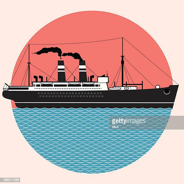 cruise ship - passenger craft stock illustrations
