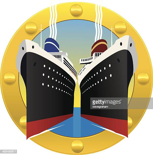 Cruise Ships Through a Porthole