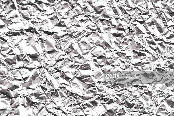 crumpled aluminum foil texture - wide background - sheet metal stock illustrations, clip art, cartoons, & icons