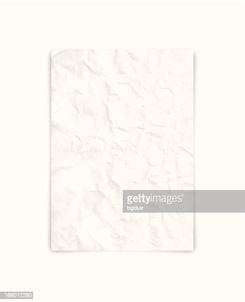 illustrazioni stock, clip art, cartoni animati e icone di tendenza di carta bianco spiegazzato - schiacciato