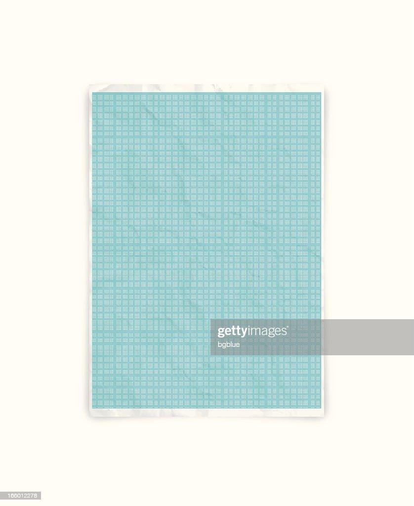 Crumpled graph paper : stock illustration