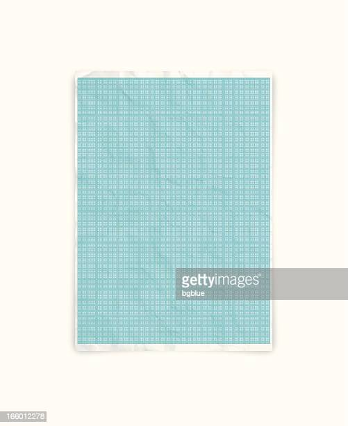 Crumpled graph paper