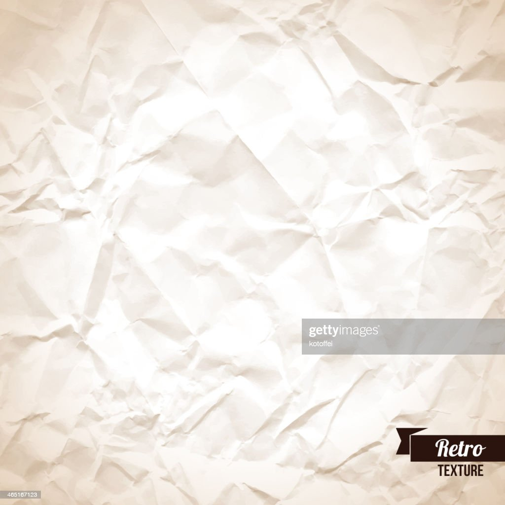 Crumpled paper background.