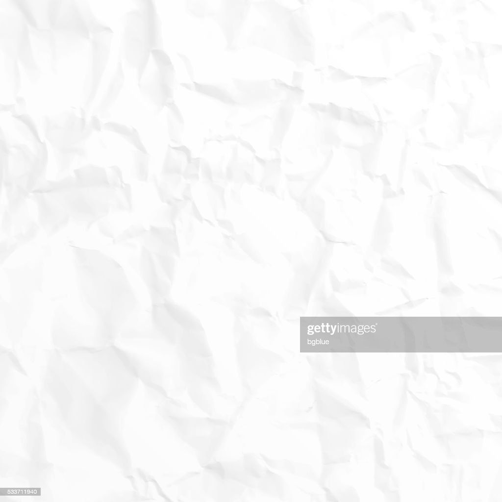 Crumpled white paper texture - Background