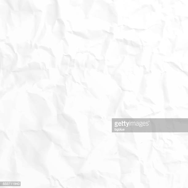 crumpled white paper texture - background - crumpled stock illustrations