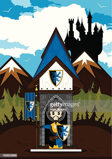 Crusader Knight at Castle Guard Post Scene