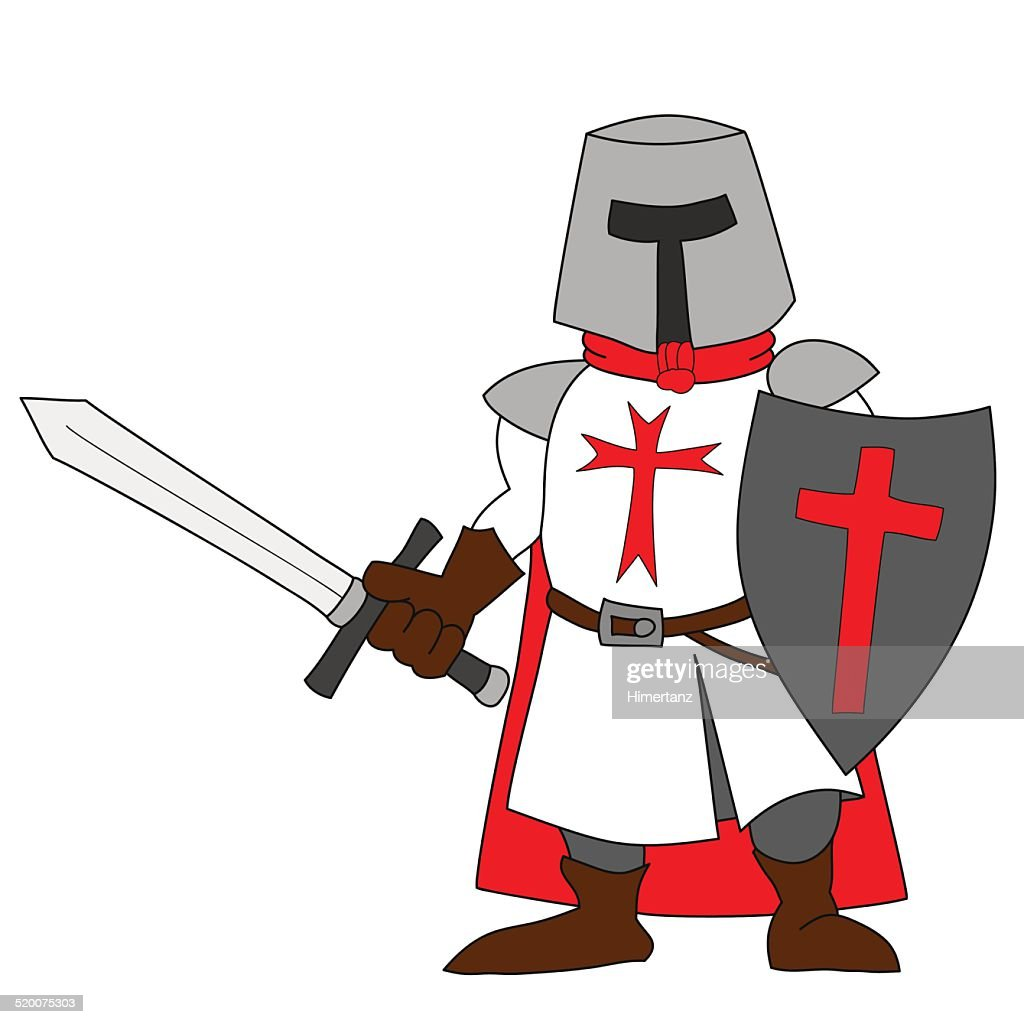 Crusader with a sword.
